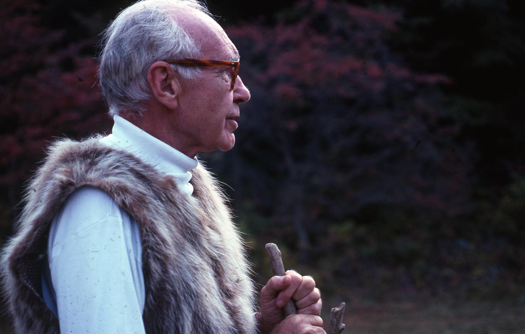 Russel Wright at Manitoga, circa 1970.