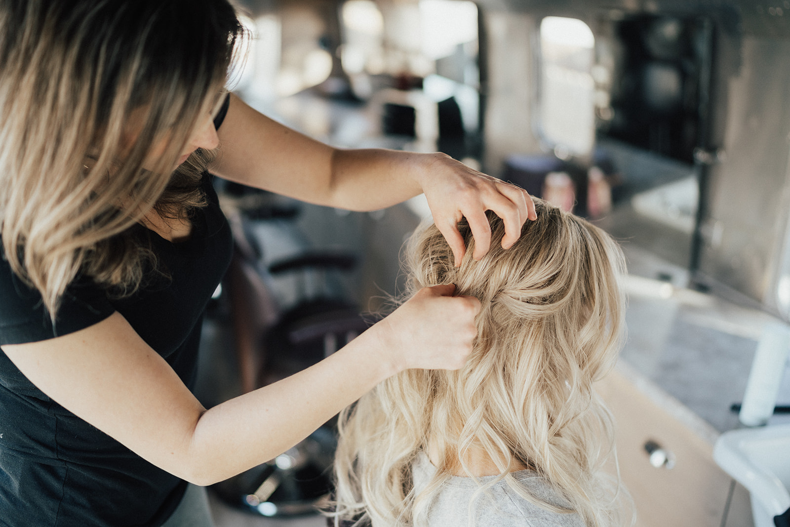 """Crissy dyed and styled my hair for my wedding day leaving me feeling the most beautiful I ever had. She is extremely knowledgeable, professional, and a joy to be around during the process. I highly recommend her and will never let someone else cut/ color my hair again!"" - -E. Hart"