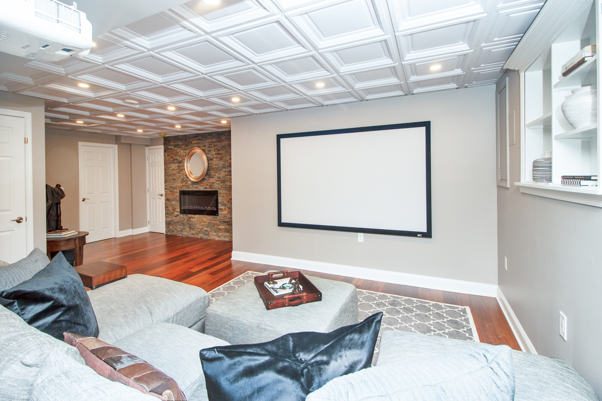 Project Mount Laurel Colonial - High-end family recreational room & man cave