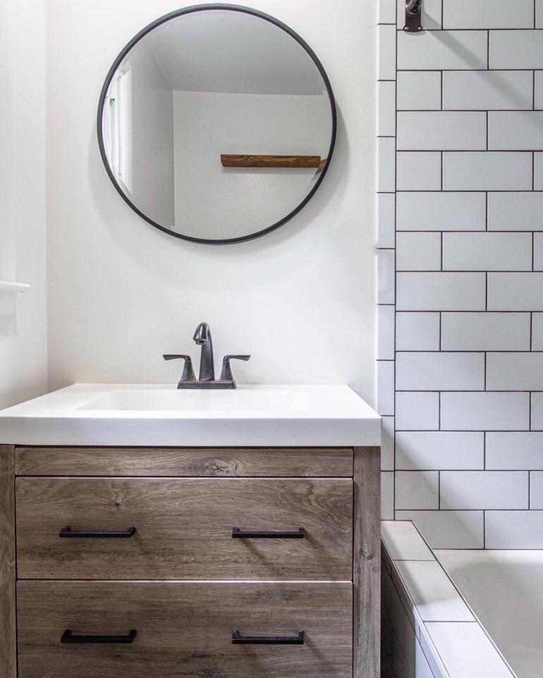 Project Ambler Bath - 2 Bathroom renovations. Farmhouse chic