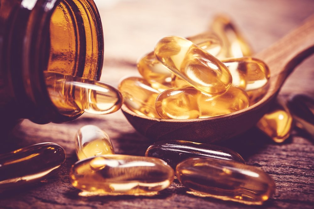 fish oil, rich in Omega 3 fatty acids plays an essential role in both the structure and appearance of the skin.