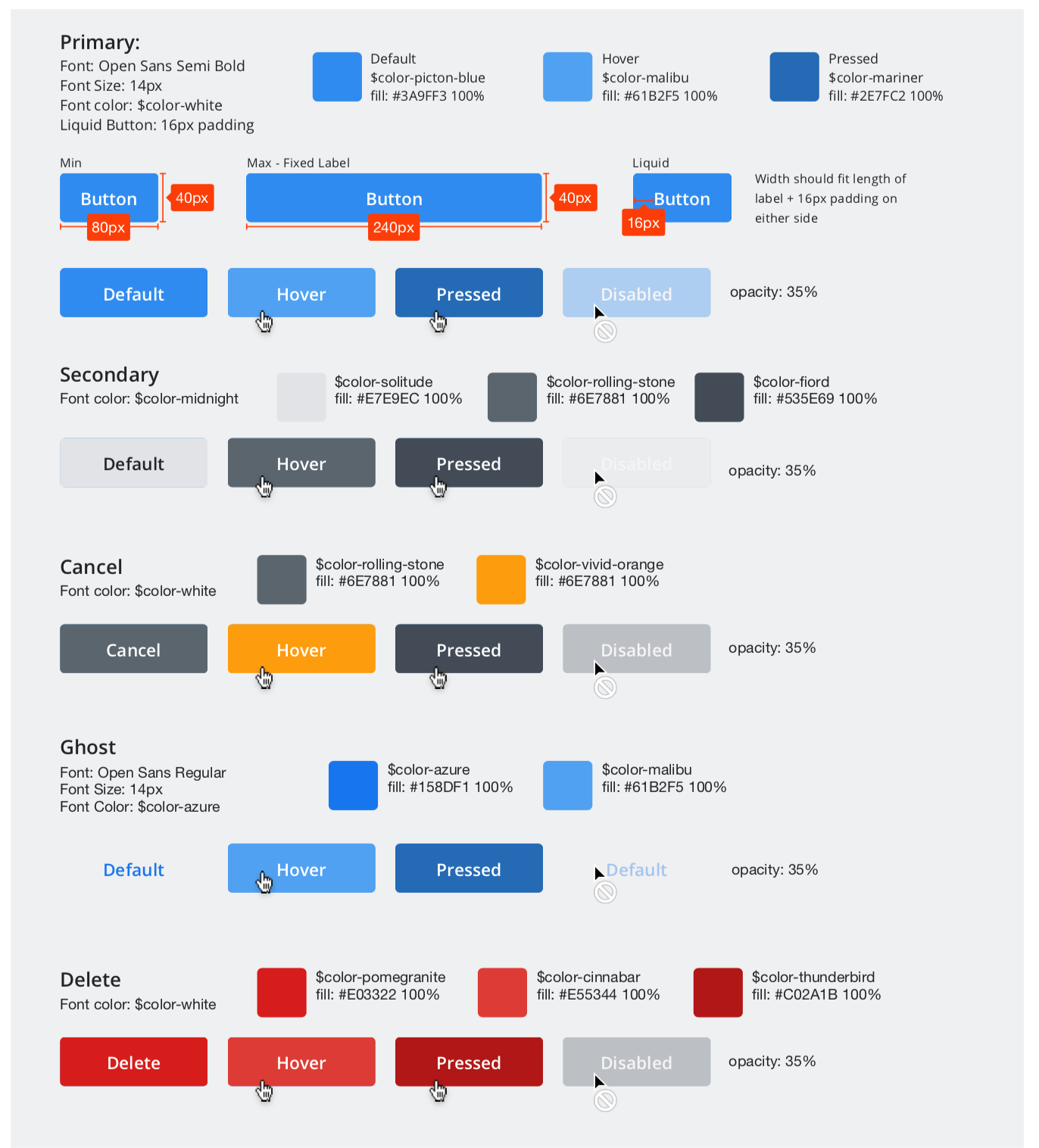 UI Spec Examples