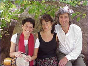 The musicians (from left to right): Lisa Antosofsky, Rabbi Tirzah Firestone and Sheldon Sands