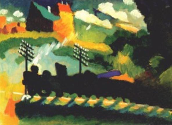 Murnau train et château by Vassily Kandinsky, 1909