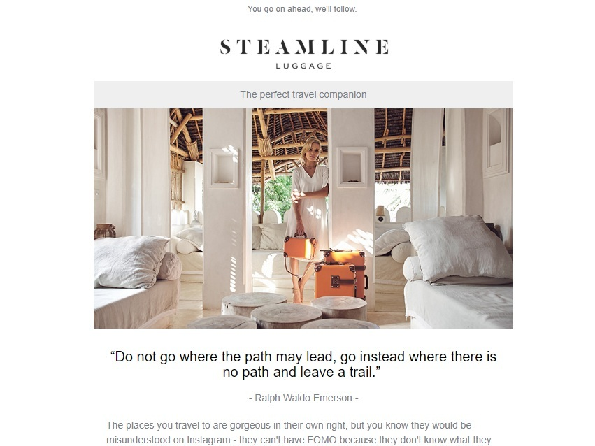 From A Steamline Luggage Campaign