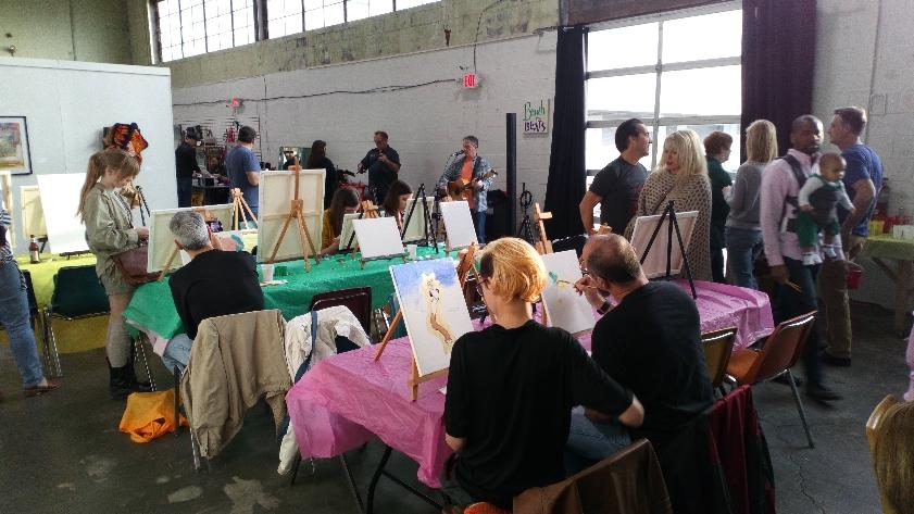 - From 6 to 9 PM. Purchase a canvas ($6-$12) at the door and enjoy unlimited painting all night! Everything is supplied!Beer, wine, soda, and bottled water available for purchase!This is a family-and-dog-friendly event!