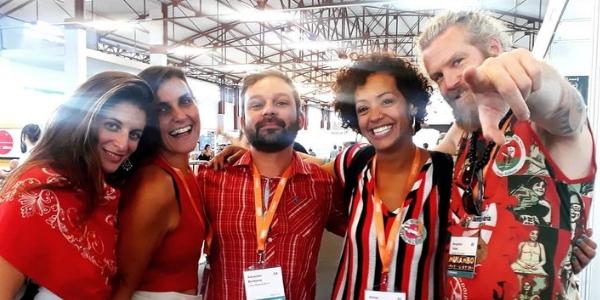 WOMEX with tha cool peeps. From left to right: Tamar Ilana of Ventanas, Kristyn Ann from Uma Nota, Alex from Uma Nota, Jabu Morales and DJ Mukambo (Benjamin Tollet)