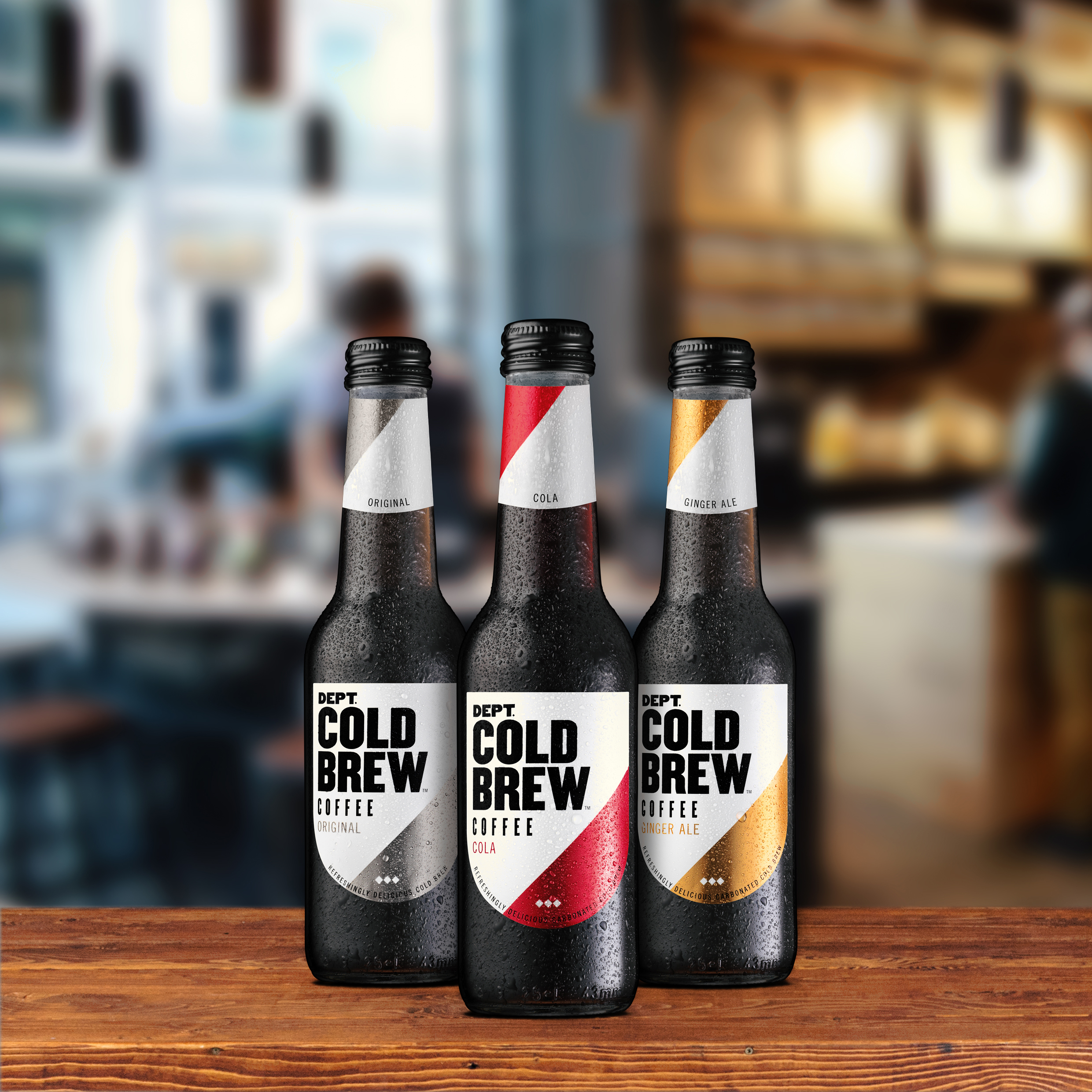 Thesoft drinkfor coffeelovers. - To become a stockist, email:info@deptcoldbrew.com