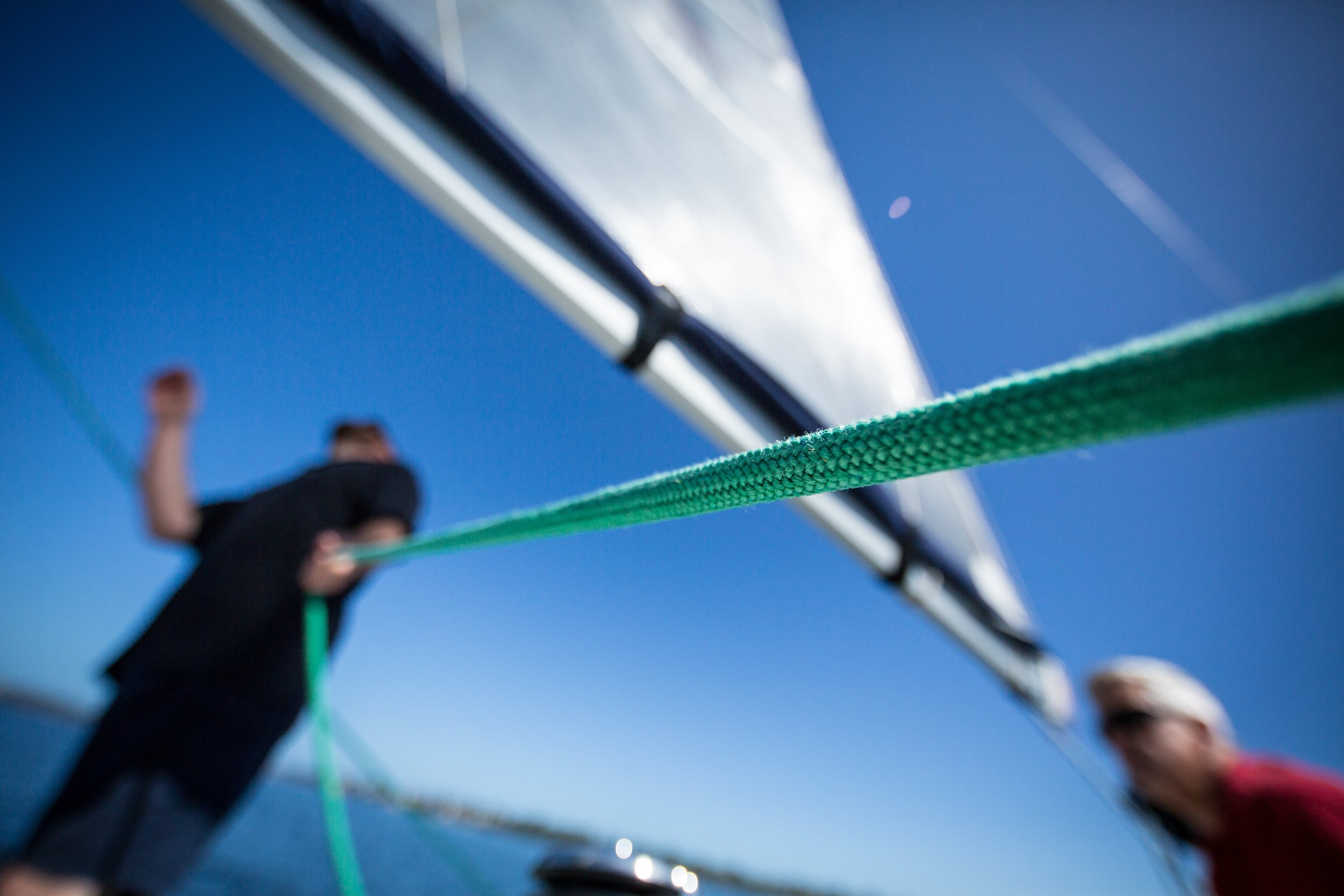 sail trimming - yacht racing