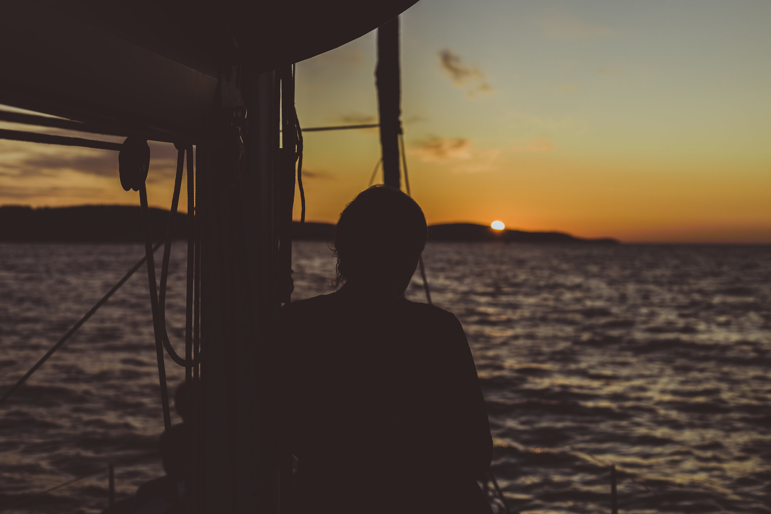 Greece sunset, london school of sailing - carrick mclelland