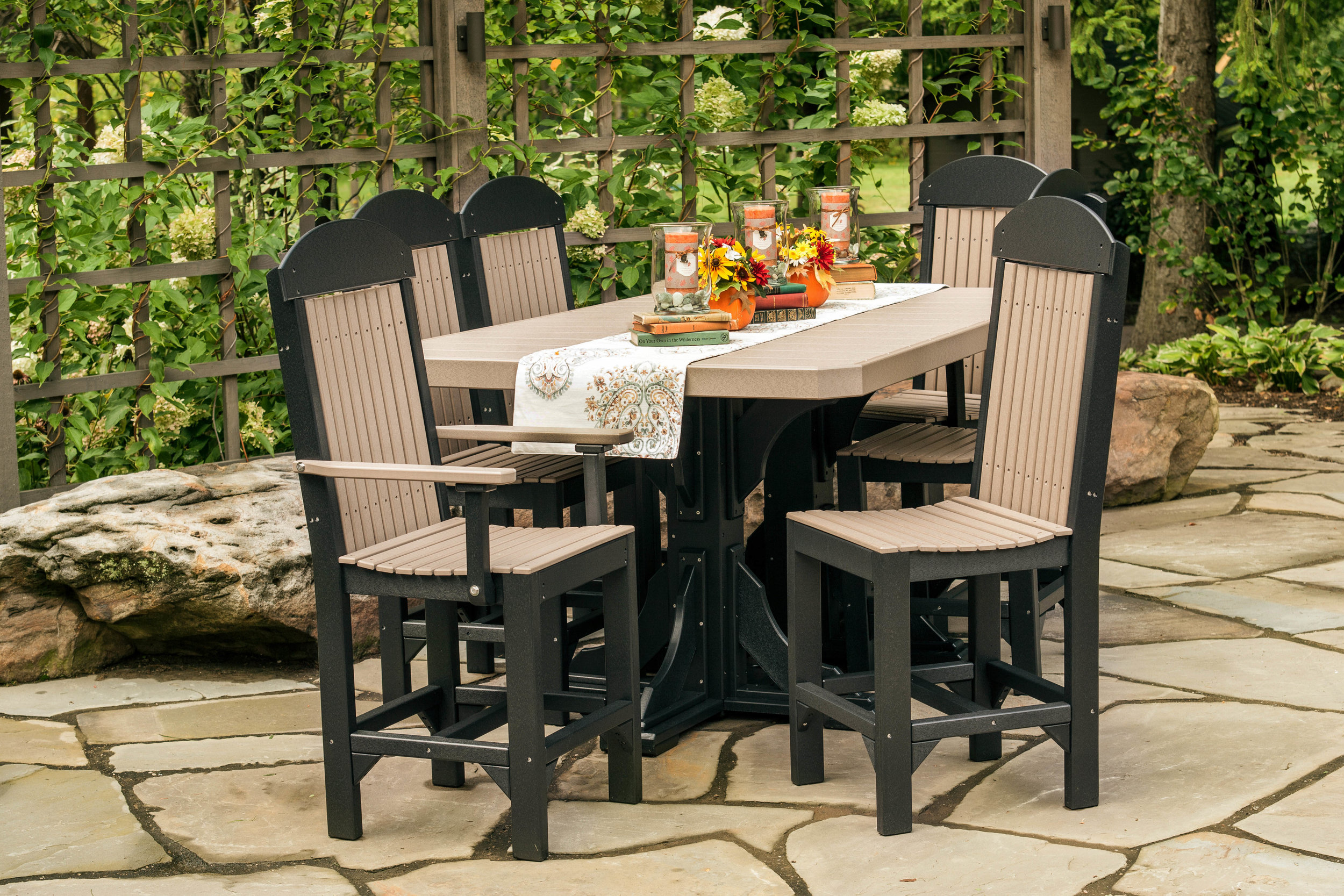 Poly 4_x6_ Rectangular Table Set #2 Bar Height (Weatherwood _ Black).jpg