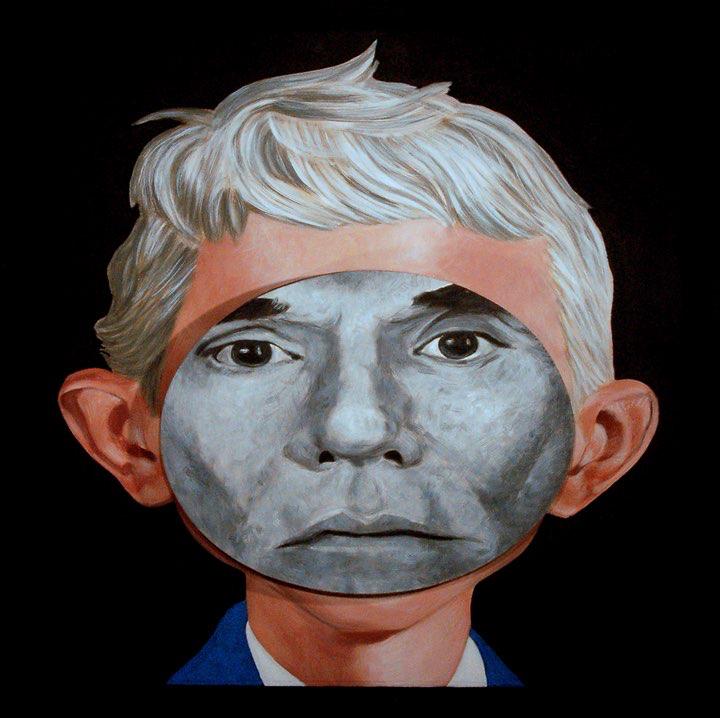 "Mikel Alatza, Andy Warhol (Universal Template), 26""x26"""