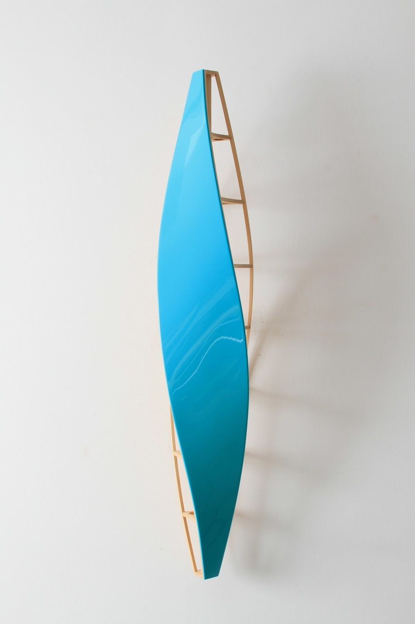 """Eric Johnson, Aria, wood and automotive lacquer, 48"""" x 8"""" x 8"""""""