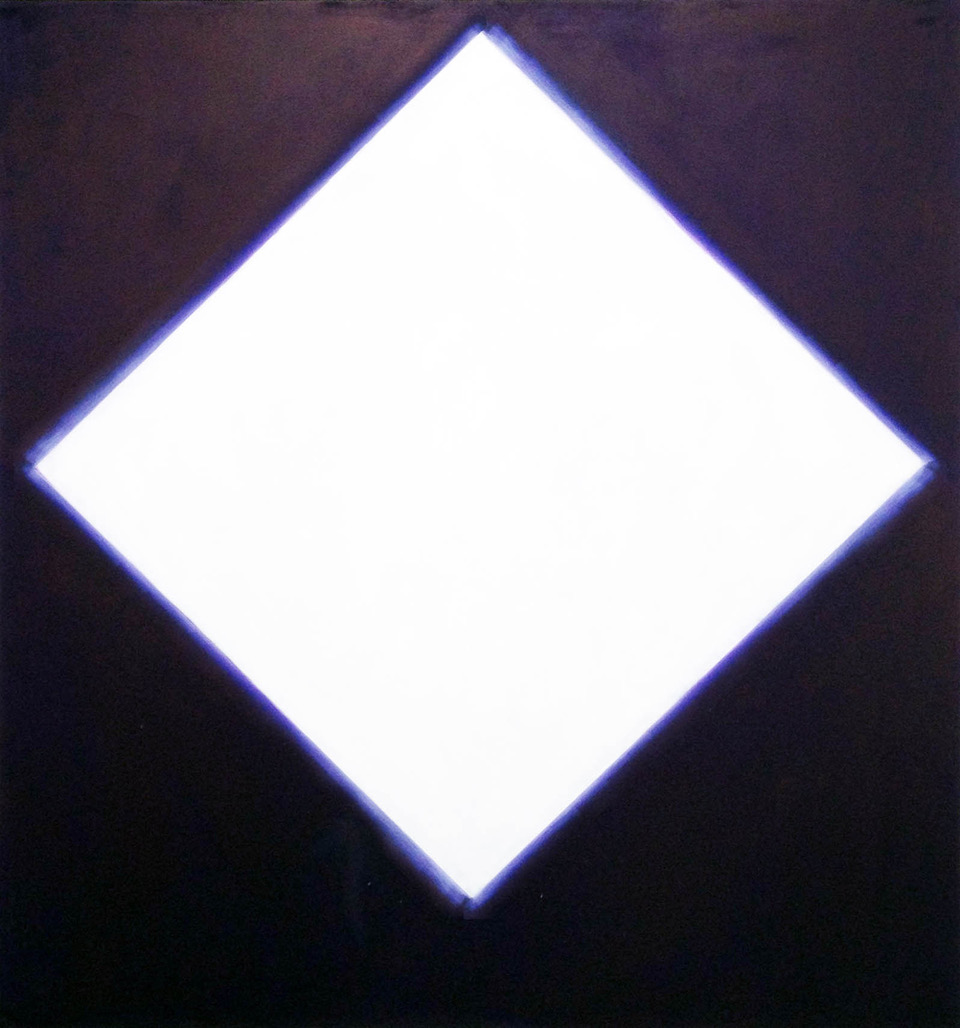 "Peter Lodato, White Diamond, 2014, oil on canvas, 79"" x 71"""