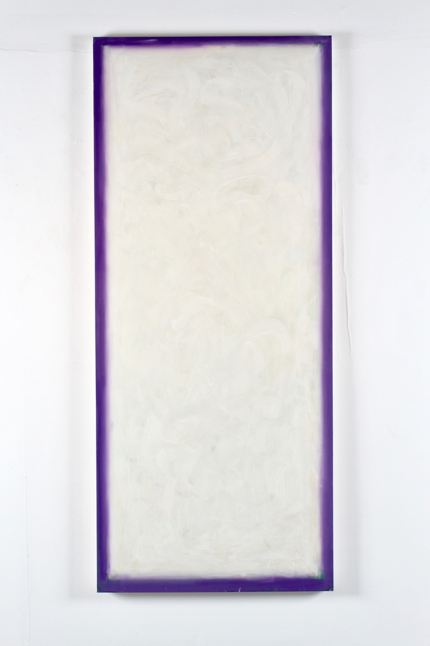 "Peter Lodato, Window #2, 2013, oil on canvas, 84"" x 36"""