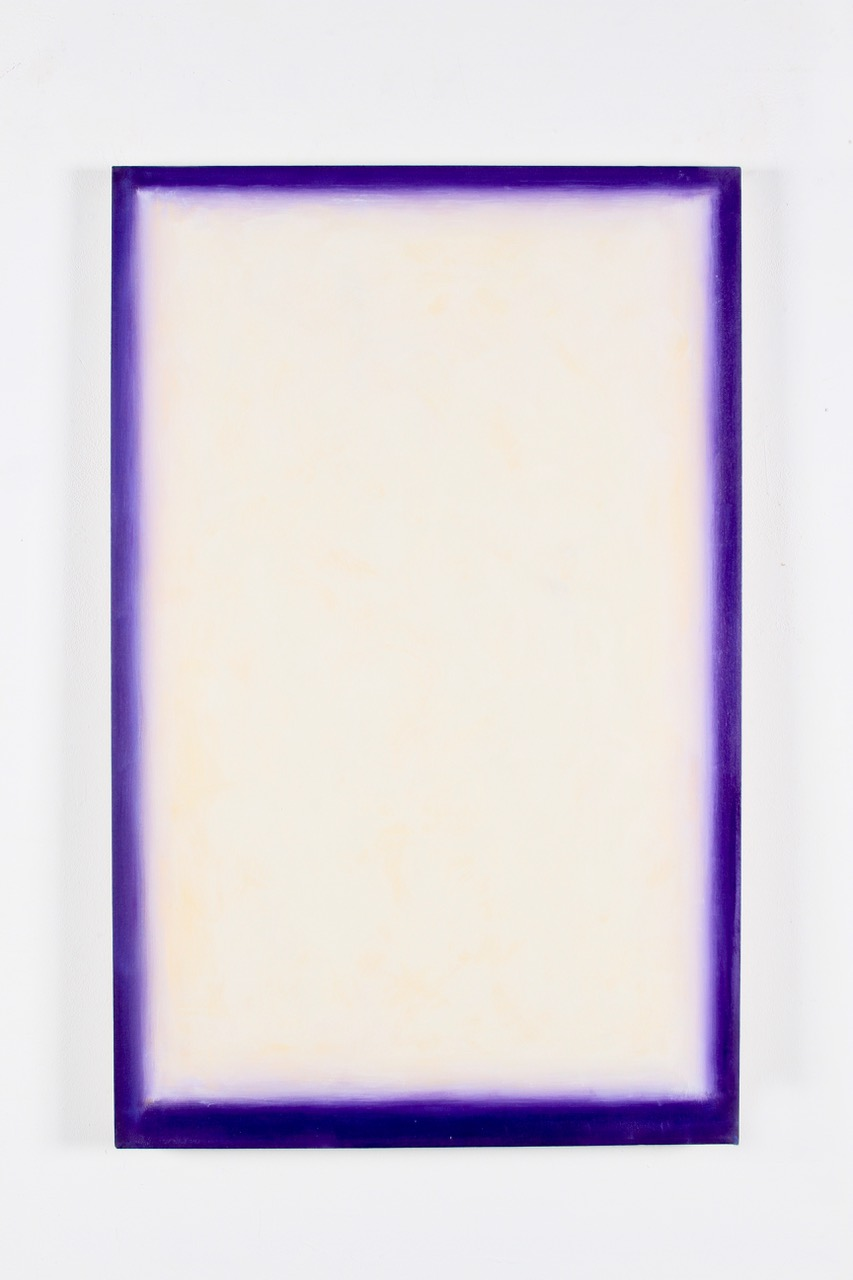 "Peter Lodato, Azure, 2013, oil on canvas, 44"" x 28"""
