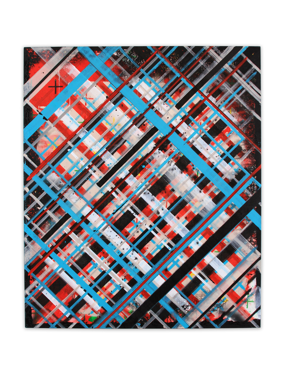 "Ed Moses, Cuba #2, 2014-15, acrylic on canvas, 52"" x 43"""