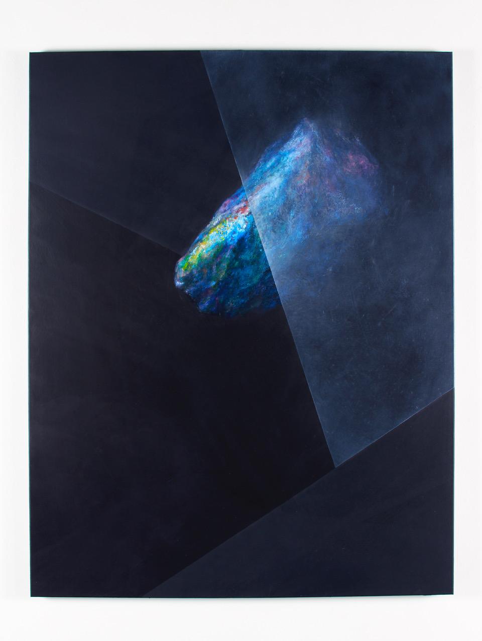 """Javier Peláez, PRGB2, 2017, oil on canvas, 74"""" x 60"""""""