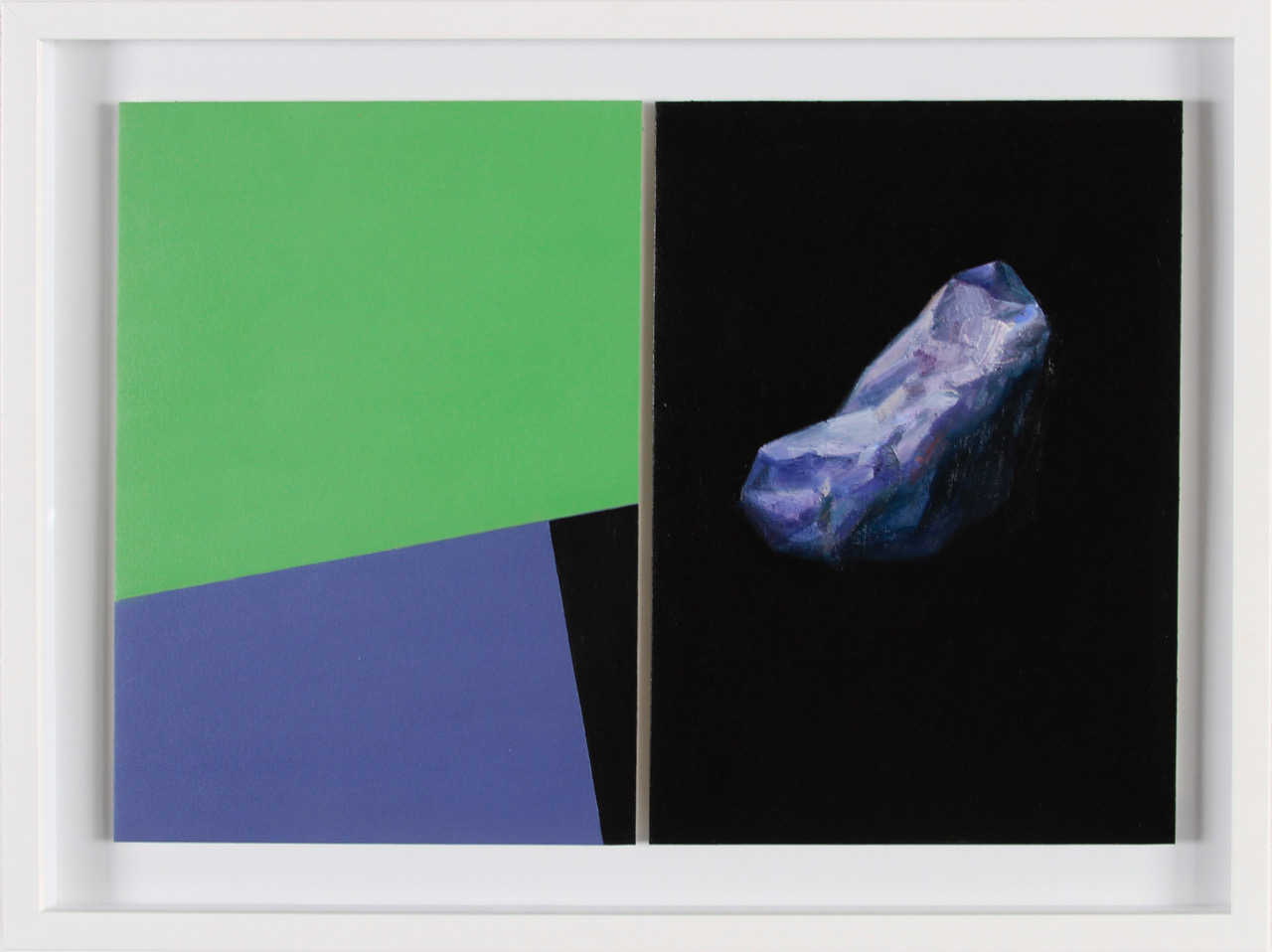 Javier Peláez, Untitled II, 2017, oil on paper, 12 x 18 inches, 15.5 x 21.5 inches framed