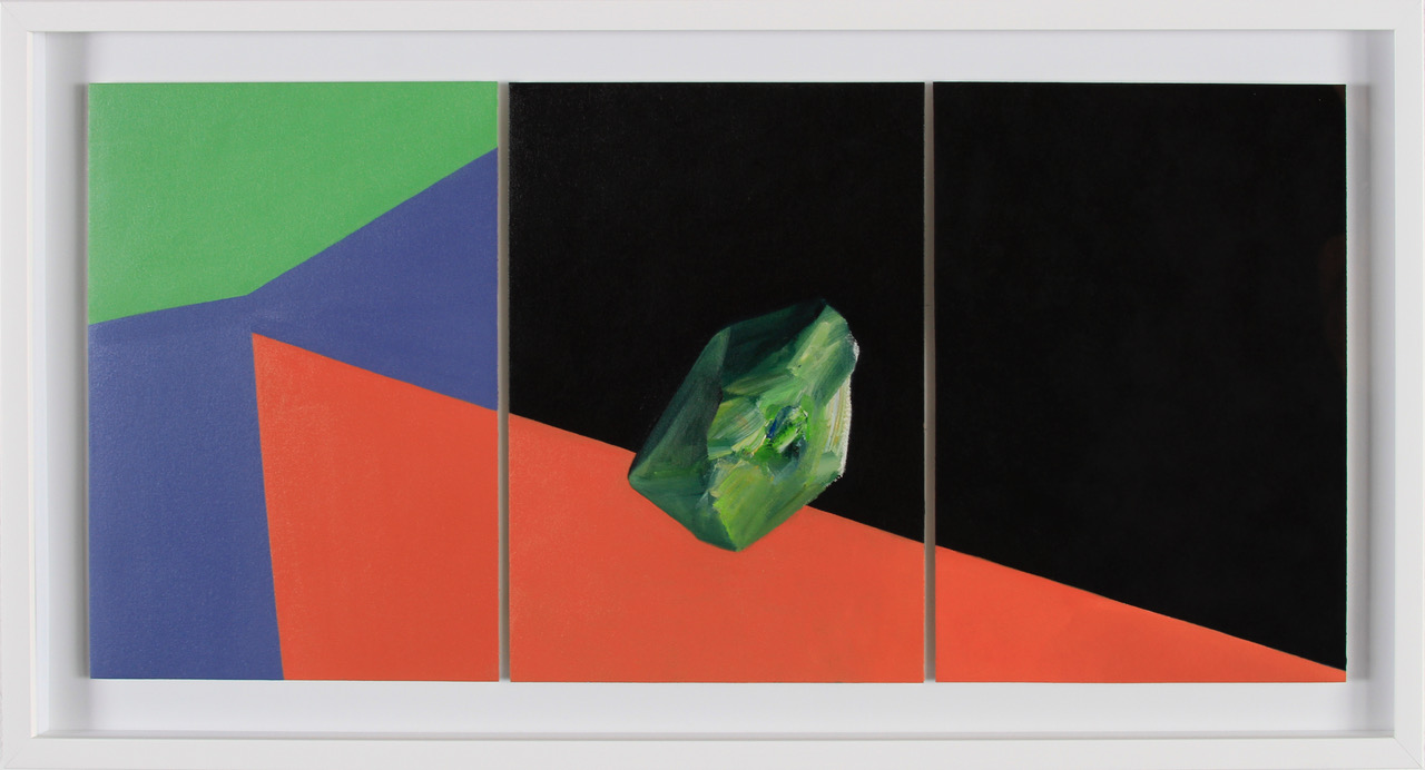 Javier Peláez, Untitled III, 2017, oil on paper, 12 x 27 inches, 15.5 x 31 inches framed