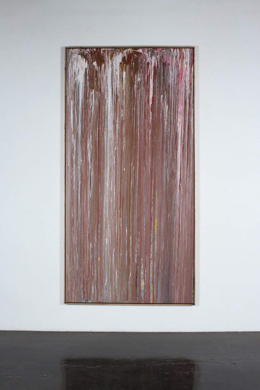 Larry Poons, Grumble Blues, 1975, acrylic on canvas, 112 x 56 inches
