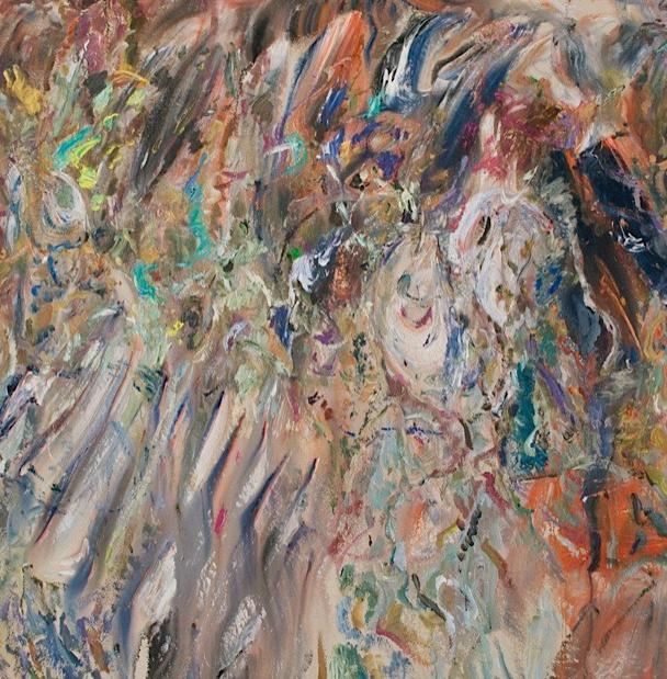 "Larry Poons, 2012, Saint Travis, (012D-6), acrylic on canvas,  65 1/4"" x 66 1/8"""