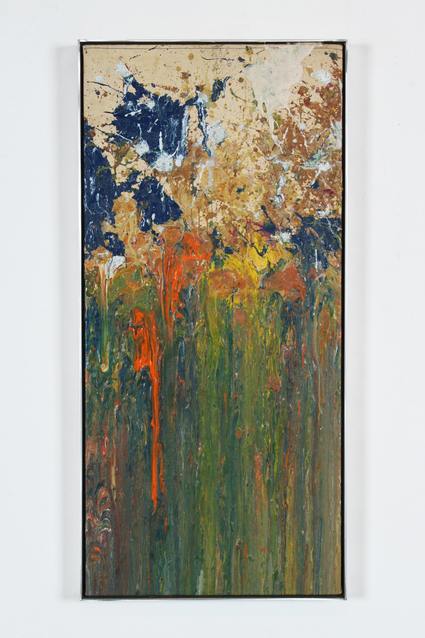 Larry Poons, Untitled, 1974, acrylic on canvas, 30 1/8 x 13 7/8 inches