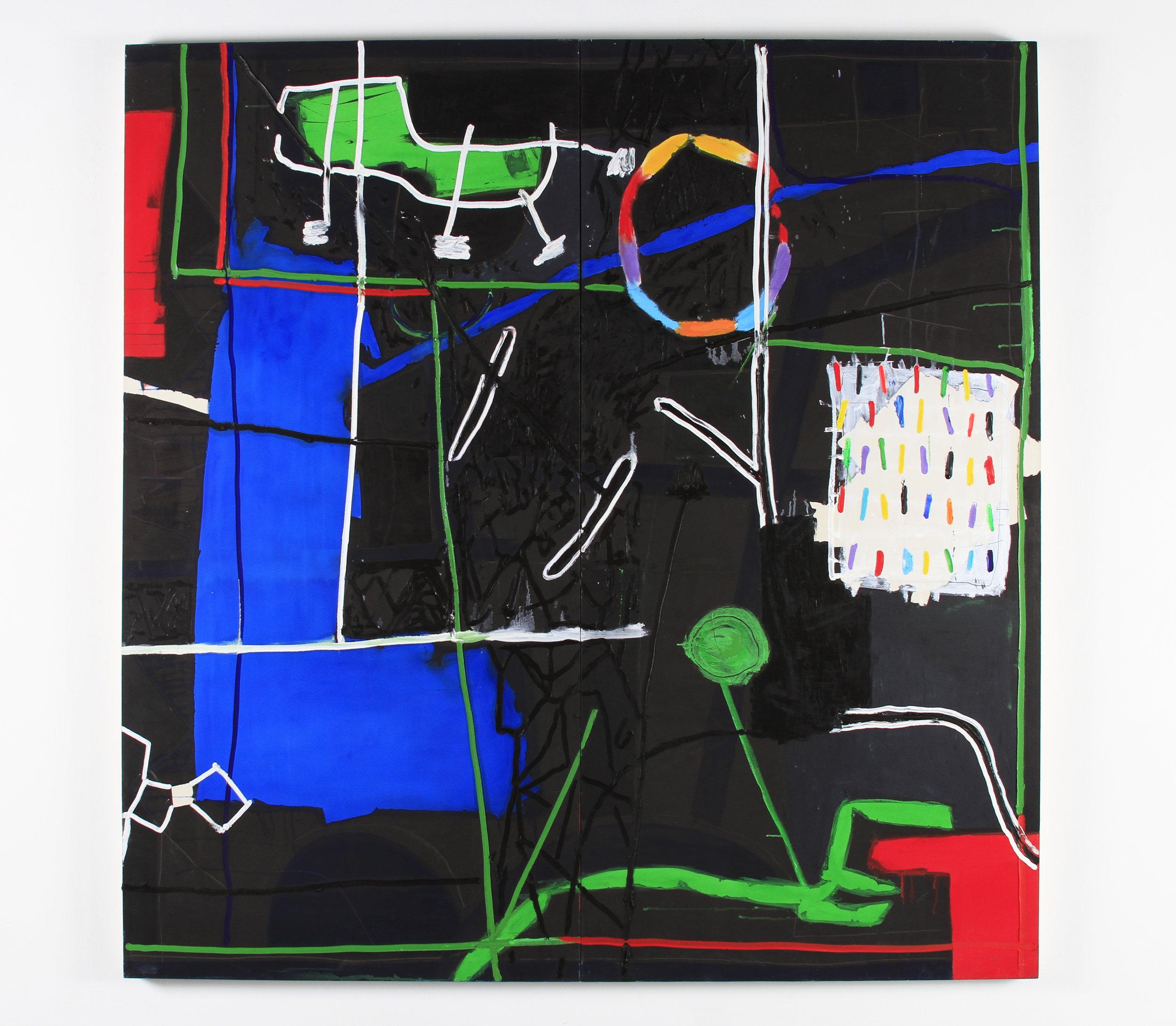 Gustavo Ramos Rivera, Divertimento, 2009, oil on canvas, 84 x 84 inches