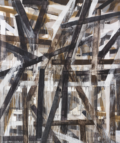 "Charles Arnoldi, Angles, 2011, acrylic on canvas, 82"" x 69"""