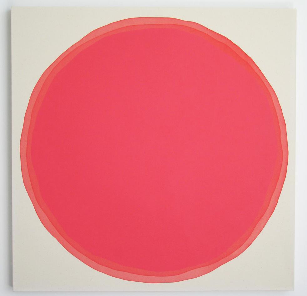 "Dawn Arrowsmith, POPPY LINE, acrylic on canvas, 36"" x 36"""