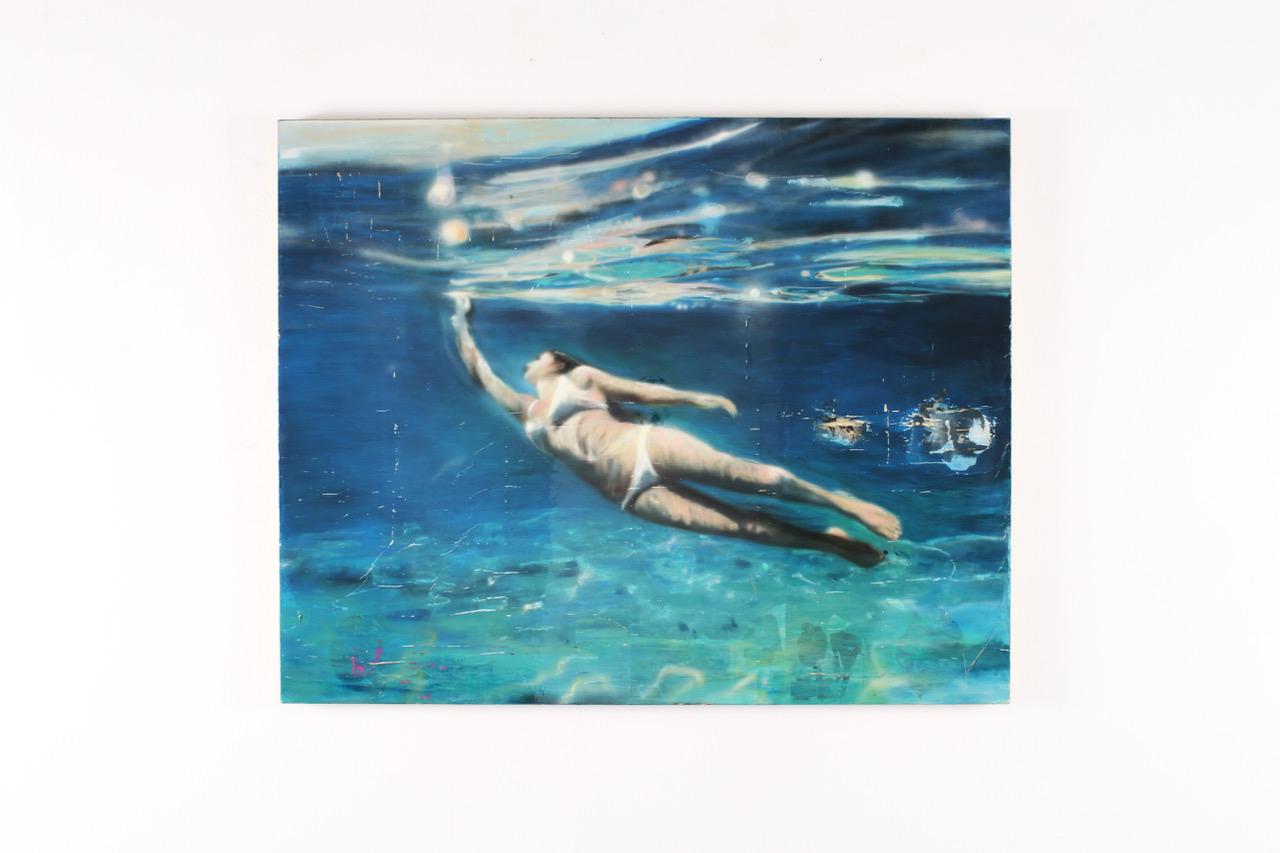 "Greg Miller, Destiny, 2015, acrylic and mixed media on canvas, 48"" x 60"""