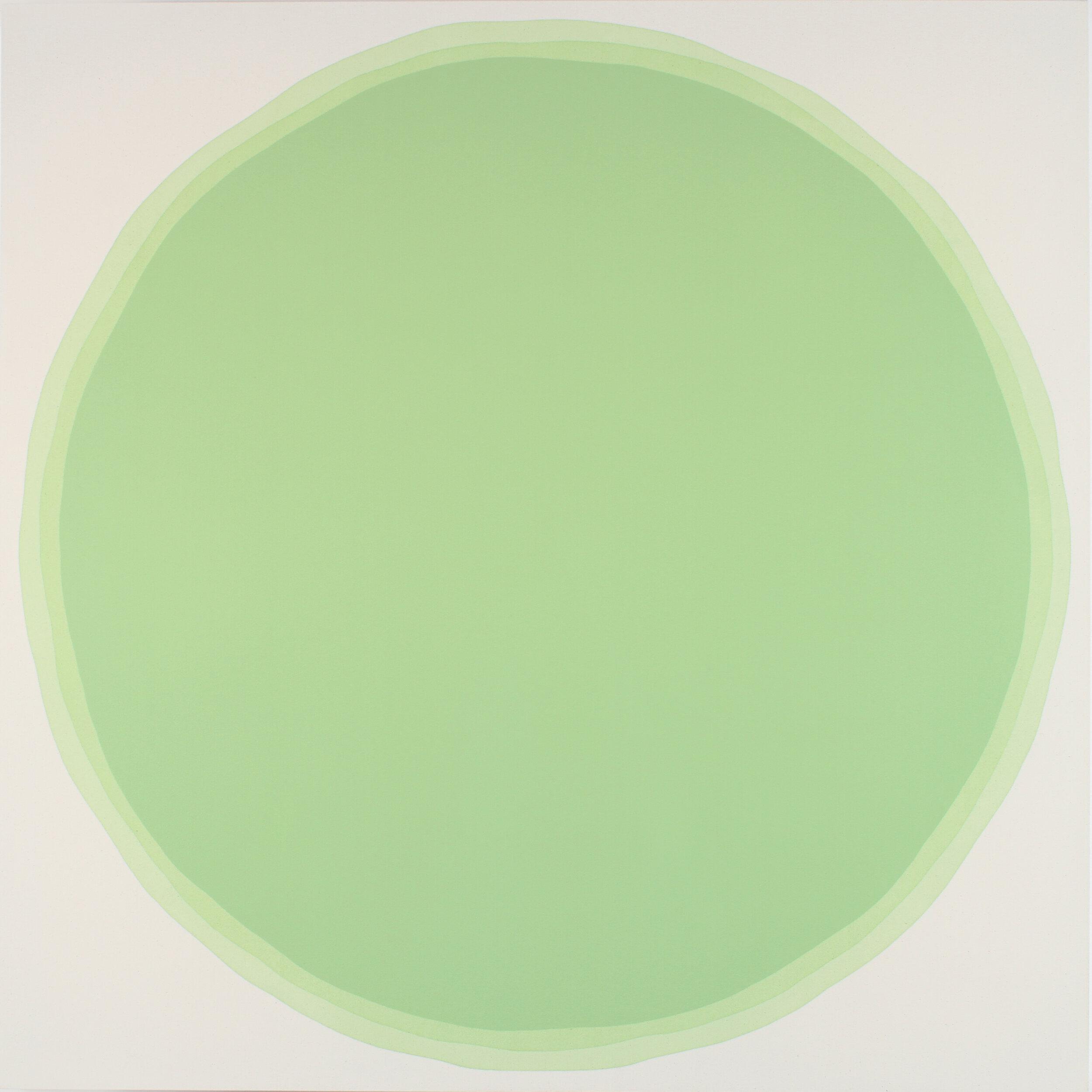 """Dawn Arrowsmith, Sacred Green, acrylic on canvas, 60"""" x 60"""""""