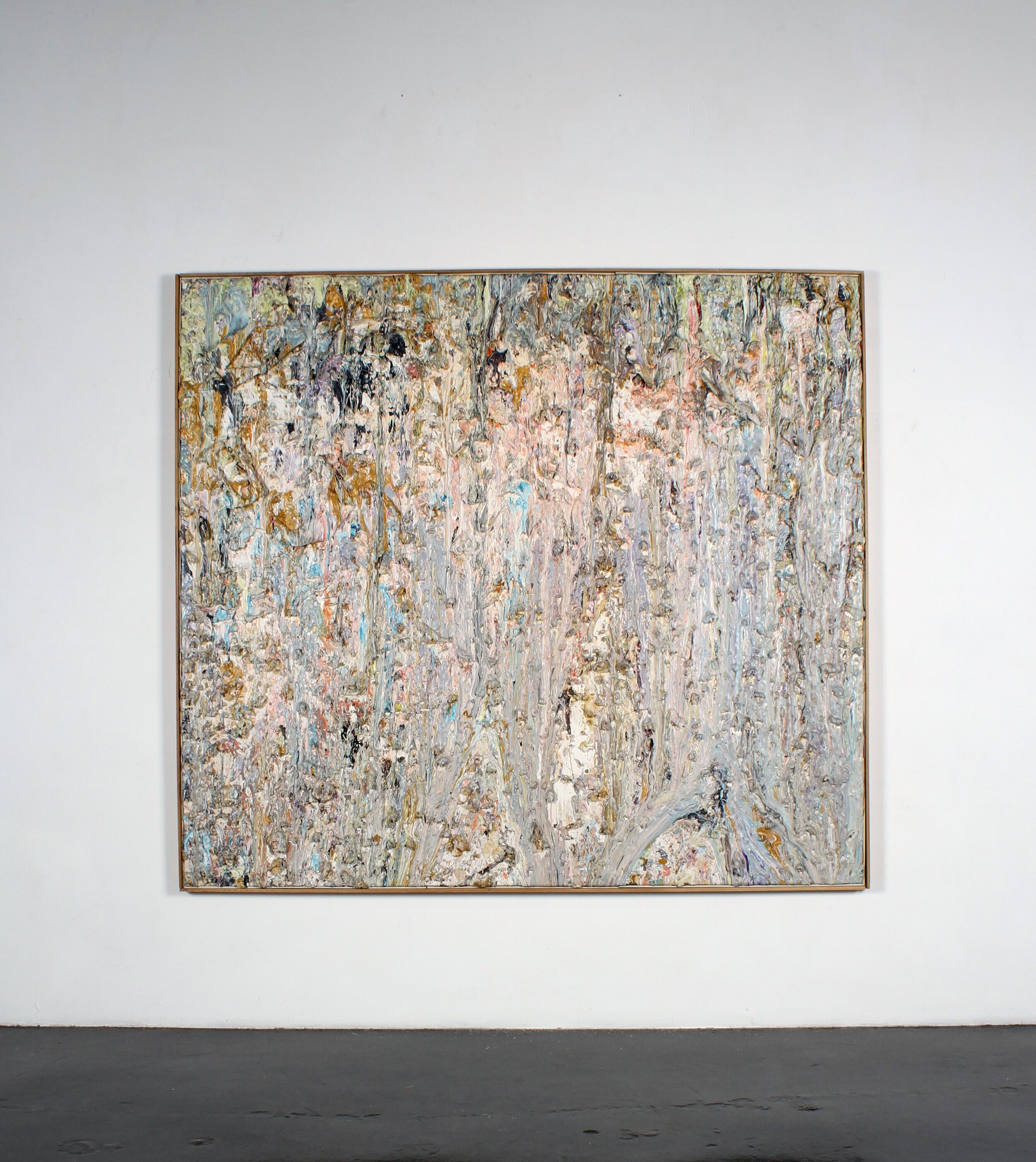 """Larry Poons, Log Train, 1985, acrylic on canvas, 78 1/4"""" x 90"""""""