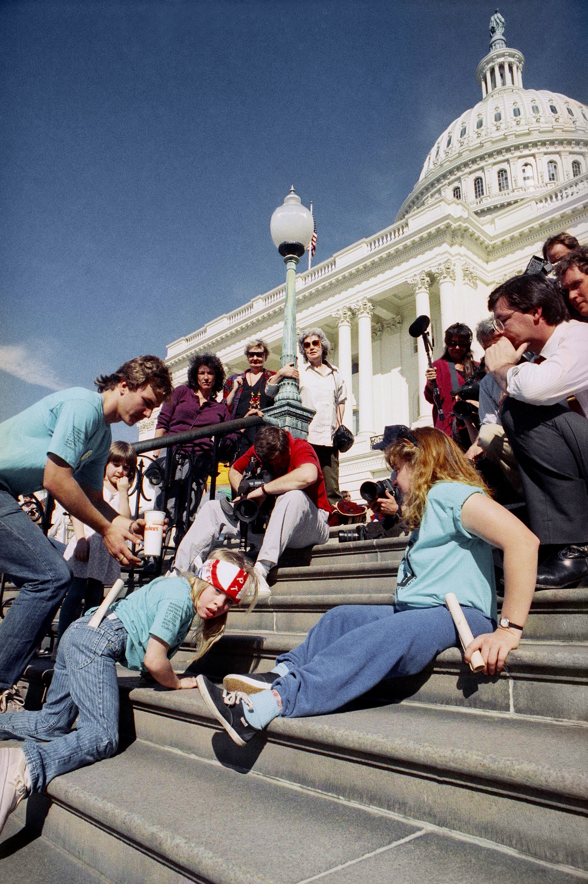 The Capitol Crawl, March 1990   https://share.america.gov/crawling-up-steps-demand-their-rights/