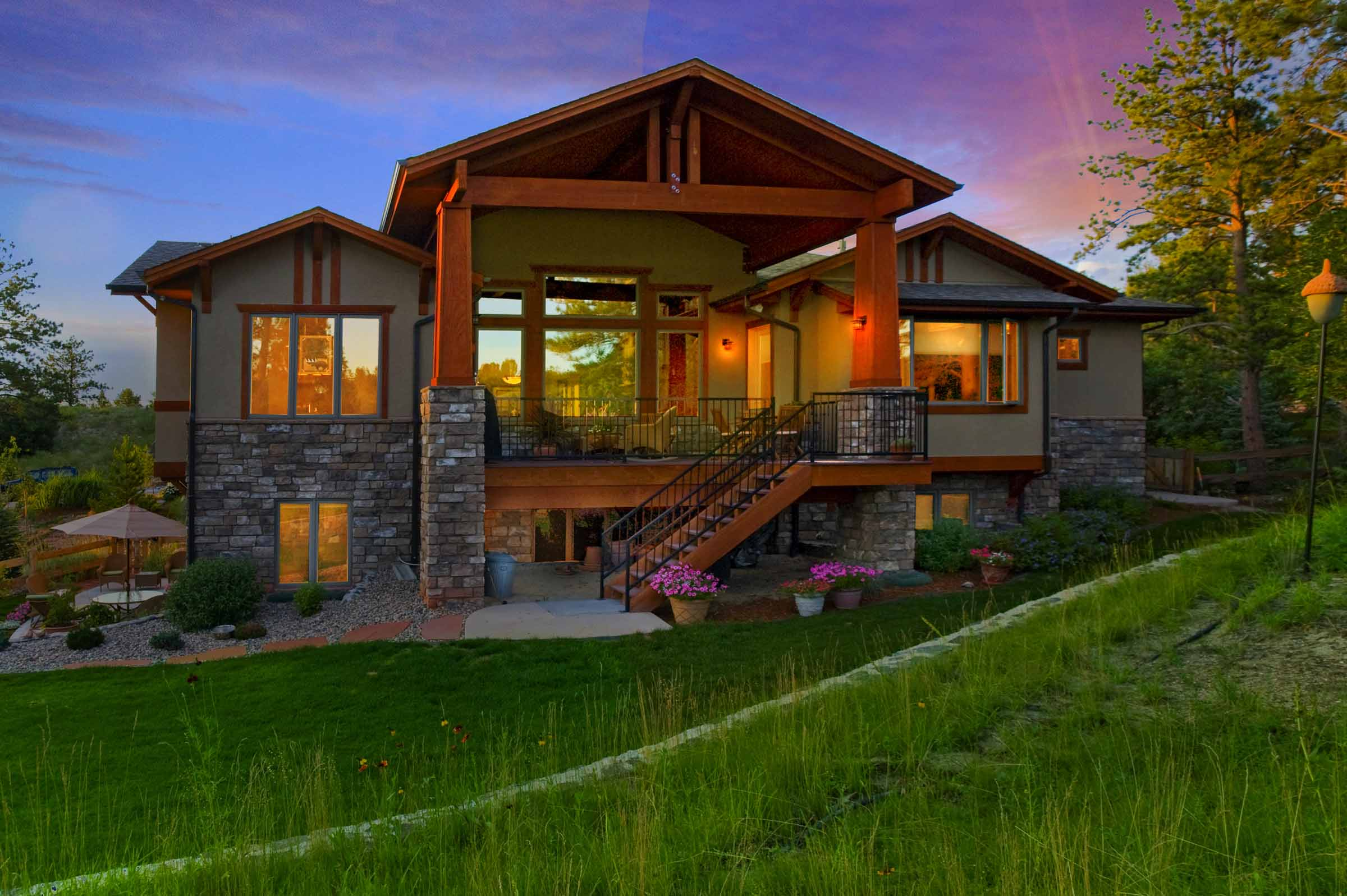 Craftsman Custom Ranch House Back Rock Colorado.jpg