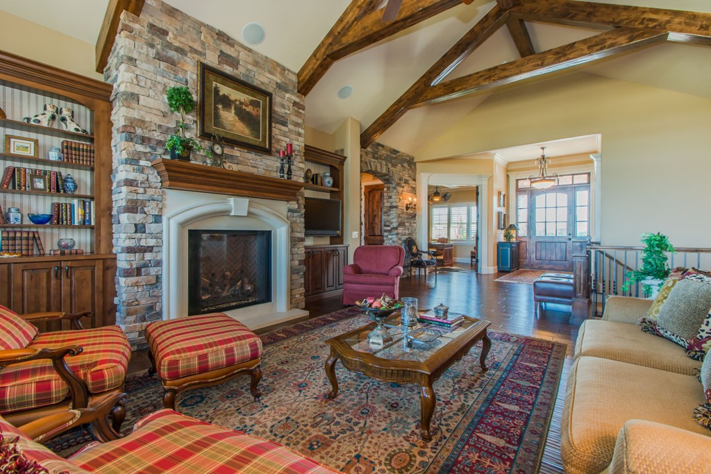 Luxury Custom Home Great Room Large wood beams.jpg