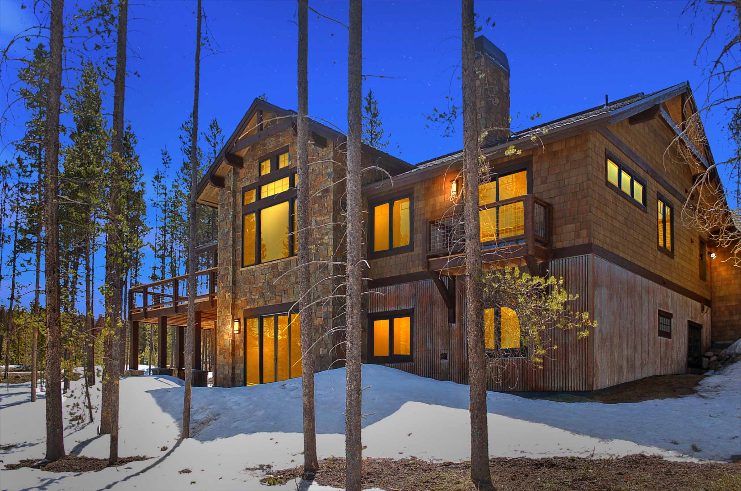 Luxury Custom Modern Mountain House Rear Elevation Castle Rock Co.jpg