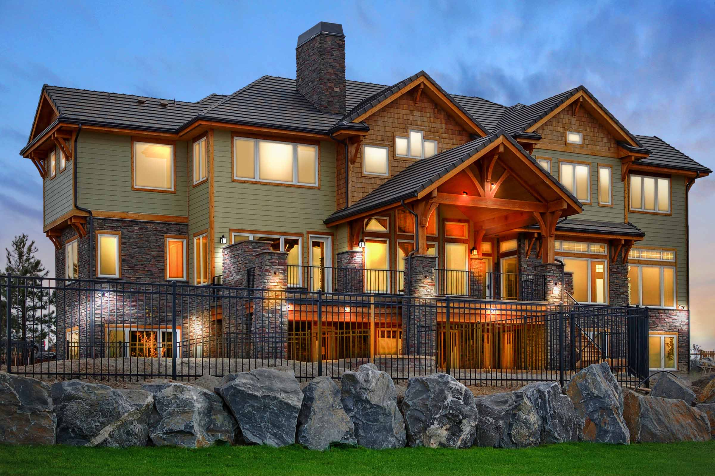 Parker, Colorodo Luxury Custom Ne Modern Home Back Elevation.jpg