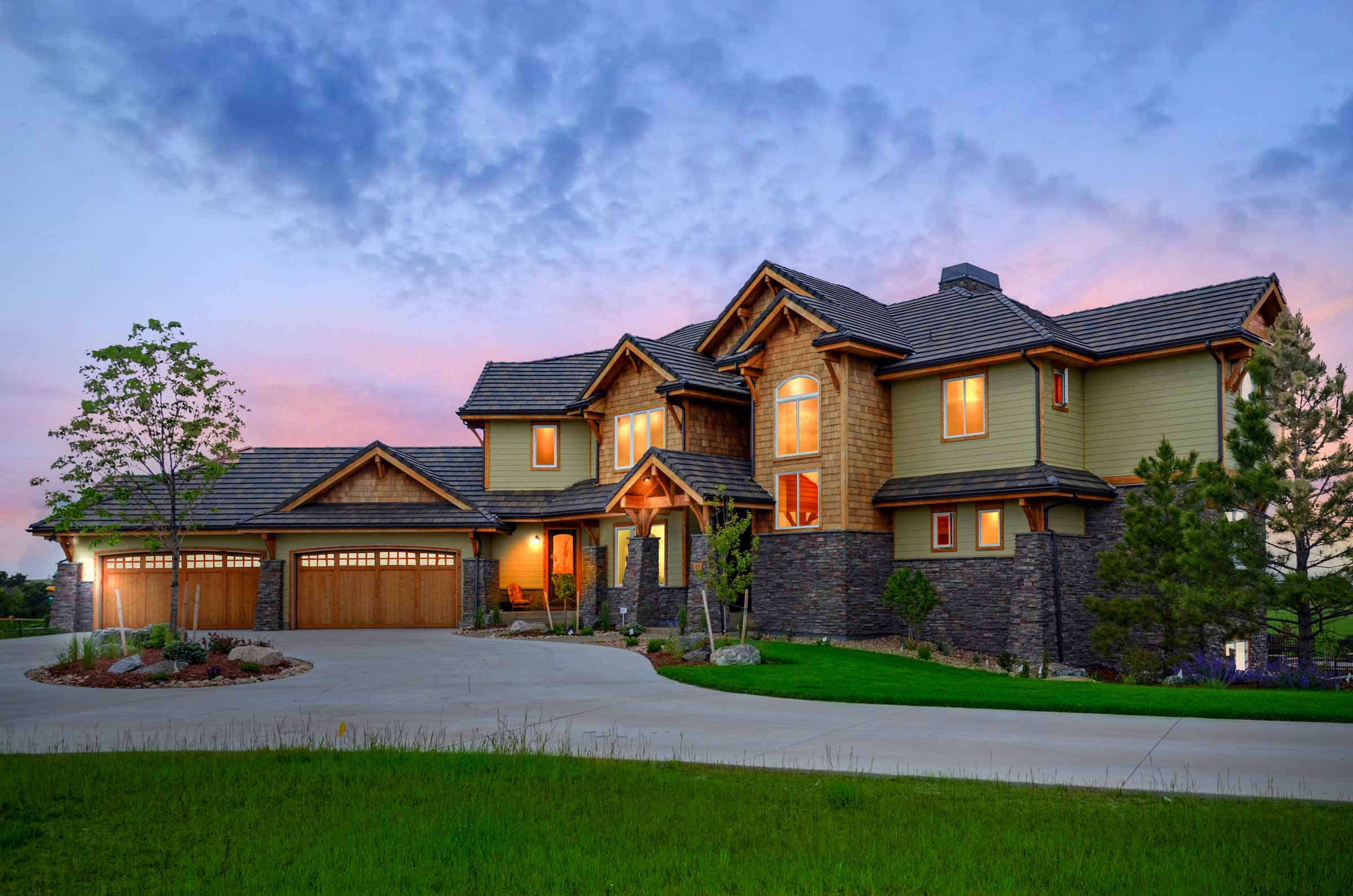 Parker, Colorodo Luxury Custom Ne Modern Home Front Elevation.jpg