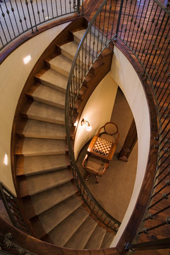 Denver Colorado Custom Home Spiral Stairway.jpg