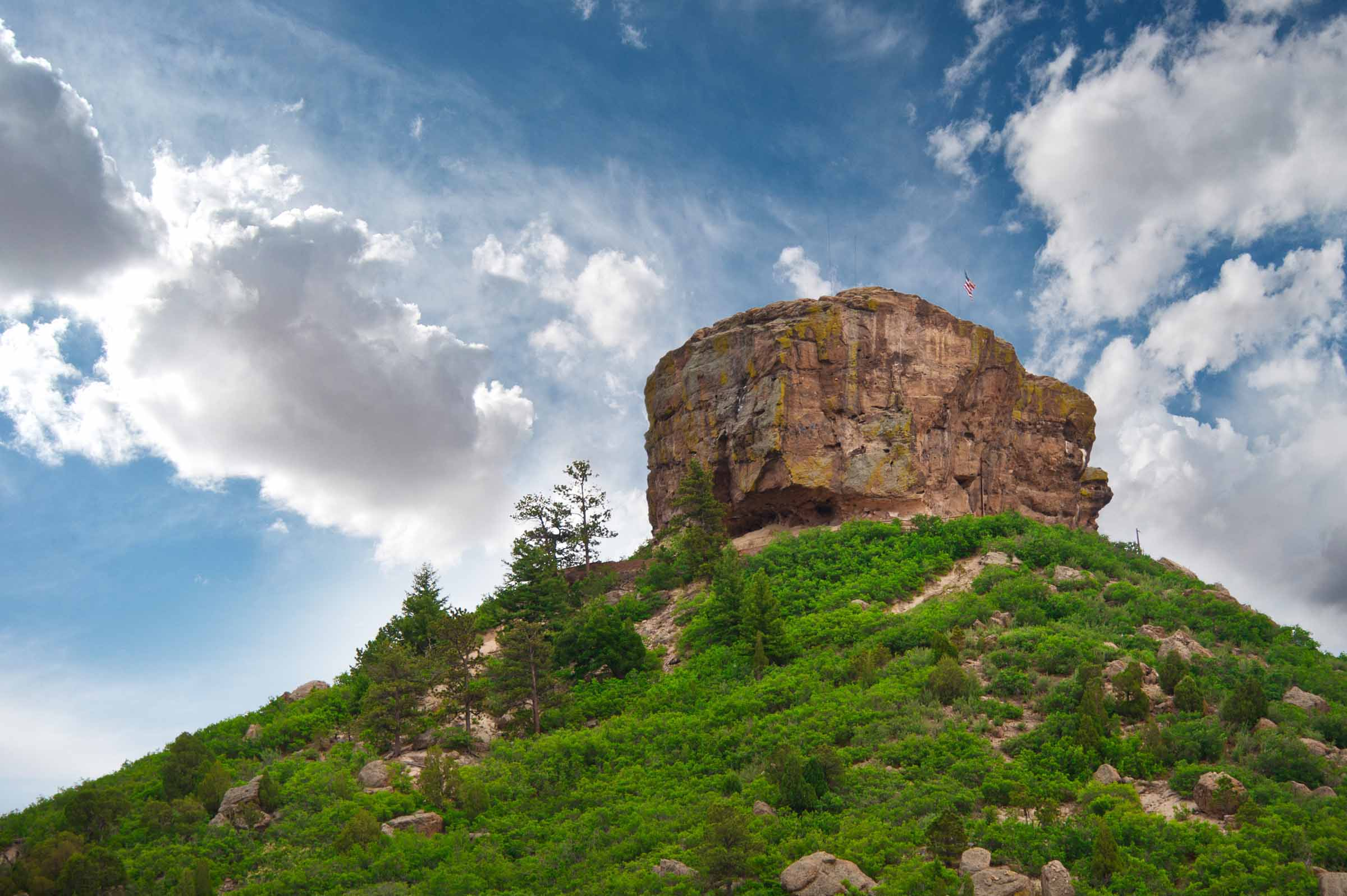 Castle Rock, Colorado - In Castle Rock, large acreage ranch properties still exist along with new custom home neighborhoods nestled into rock outcroppings, hillsides, Ponderosa pines, and Gambel oak.