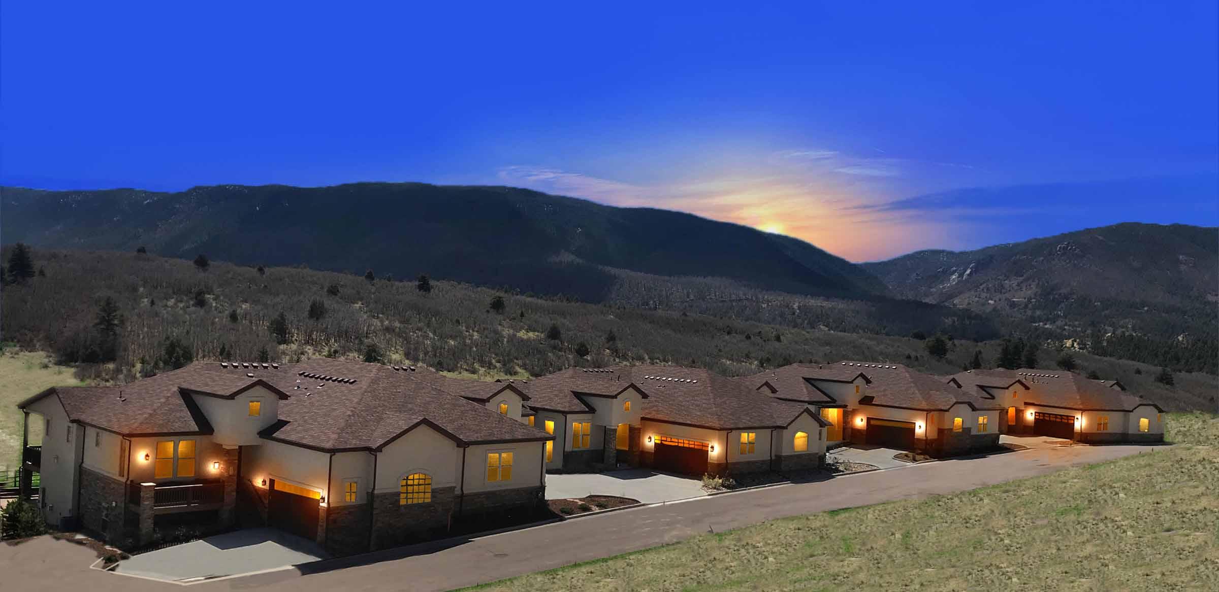 Retreat Perry Park Exterior Mountain Views Larkspur Colorado.jpg