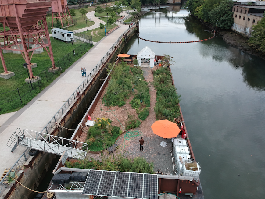 Swale at Concrete Plant Park, Bronx,  2017   Swale helped instigate the Foodway at Conc rete Plant Park in the Bronx