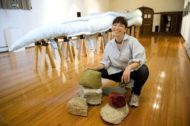 Elizabeth Demaray,  Artist, Plastomach Installation at Swale House