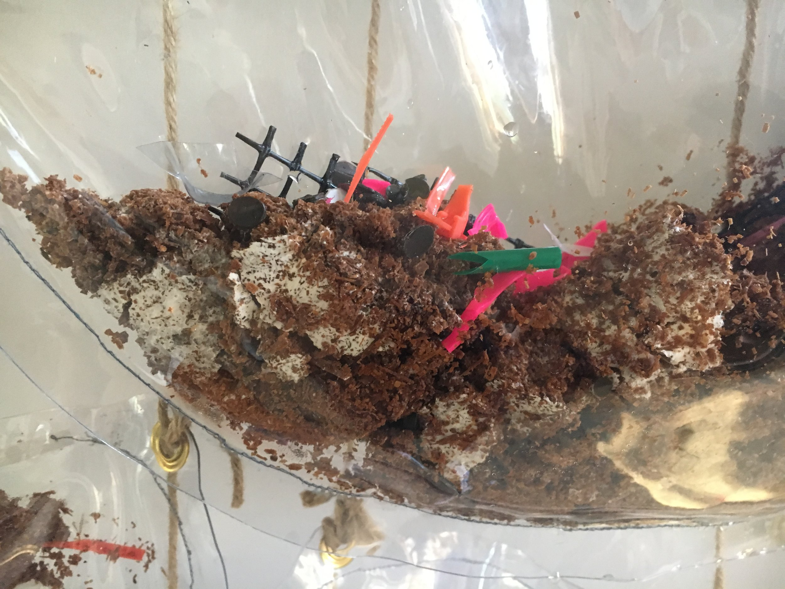 On view: Home Is Where the Plastic Eating Stomach Is  by Elizabeth Demaray and the greater Swale House community.  Come partake in an alternative form of plastic dispossession. Between June 29th and August 19th bring your plastic waste to Swale House and it may become feed for a living sculpture that digests plastic via white rot fungi. Utilizing an open source plastomach, (plastic + stomach) design, this entity can be fed plastic waste and may help us envision a world that's free of plastic debris. For directions on starting your own plastomach, updates on SH plastic contributions and a discussion of the emotions involved in using and disposing of plastic please visit  https://wordpress.com/read/feeds/45327210/posts/2364808341