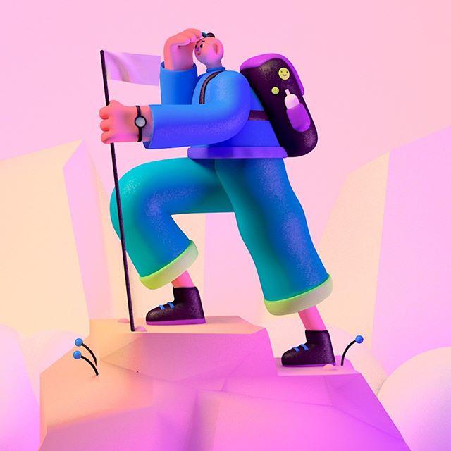 Acá les dejamos a @hoc.dog por favorcito se dan una vuelta por su cuenta y lo siguen para que vean lo sensacional de su trabajo #ridersbeware #monstruosenmumedi #mumedi #biker #bicicleta #artist #bike #characterdesign #art #illustration #3D #mountain #climb #climber #mountaintop #flag #backpack #boots
