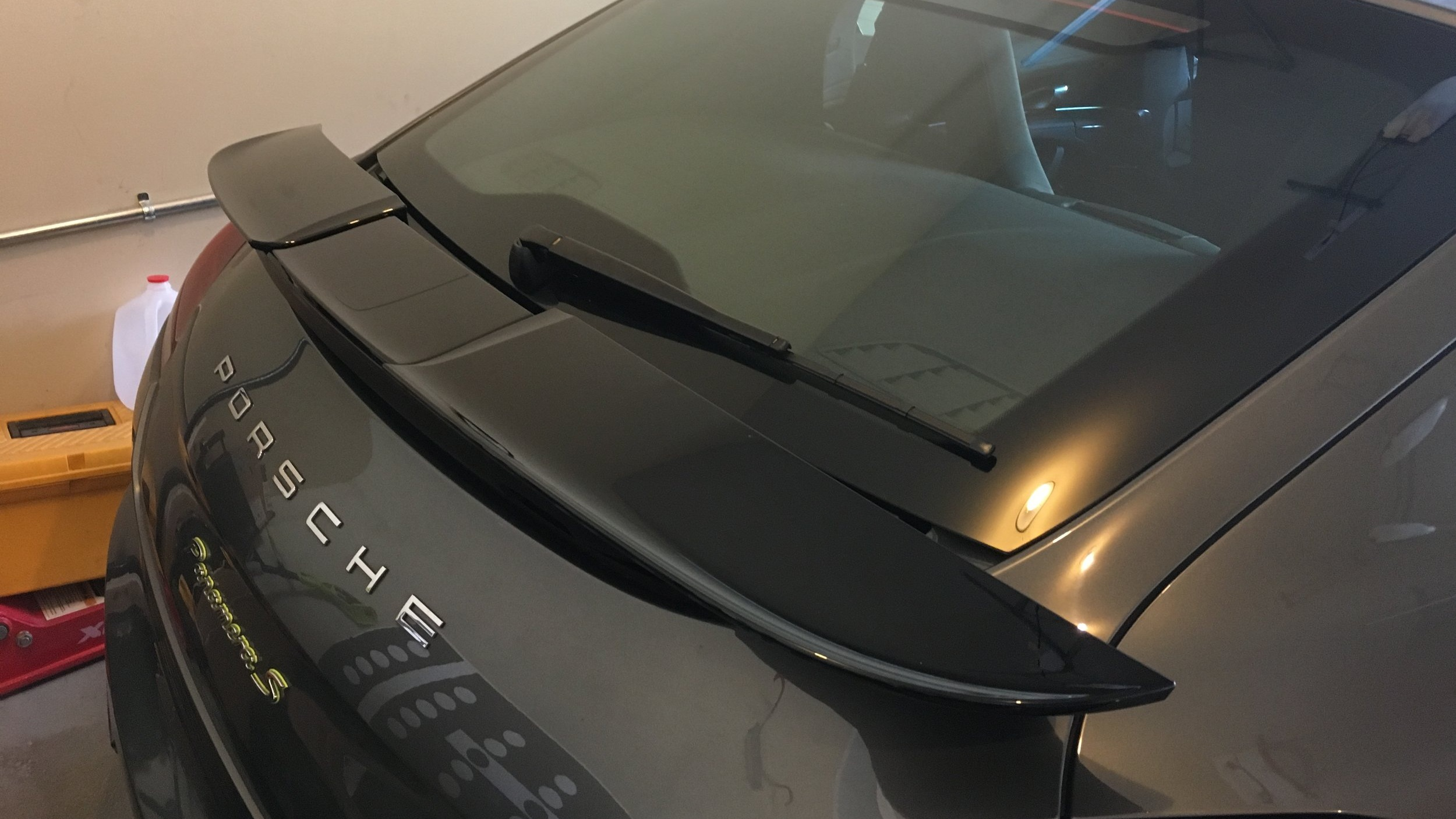 Turbo Spoiler retrofit on a Panamera S e-Hybrid