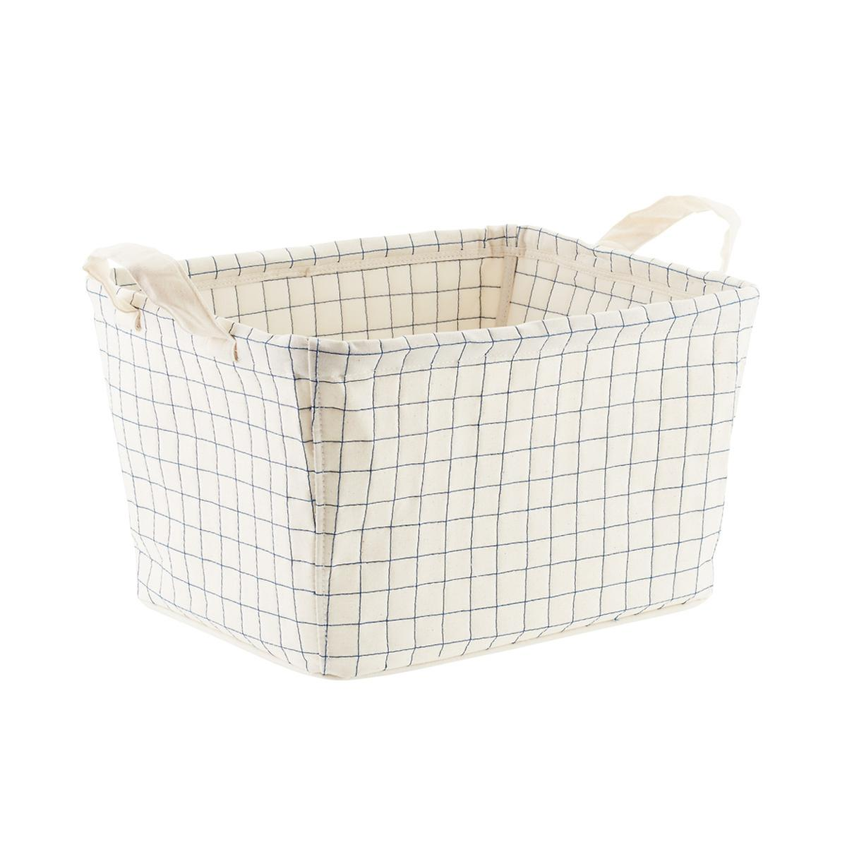 canvas quilted bin