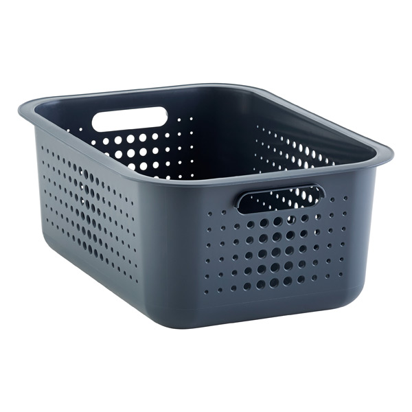 charcoal nordic storage baskets