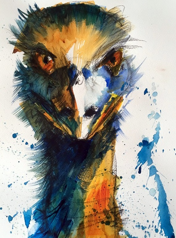 Billy the Emu, acrylic by Karen Walsh.JPG